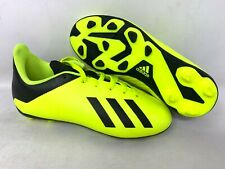 NEW! Adidas Youth Boy's X 18 Soccer Cleats Neon Yellow/Black #DB2420 A31 tz