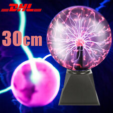 Plasmakugel Magische Blitze Plasmaball Lampe Leuchten Party Deko 20+10cm DHL