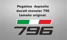 Pegatina depósito ducati monster 796 stickers decals calcas adhesivos vinilos
