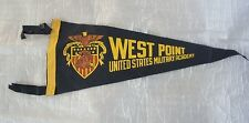 """VINTAGE WEST POINT US ARMY MILLITARY ACADEMY 12"""" INCH SMALL BANNER PENNANT"""