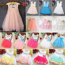Toddlers Kids Girls Sleeveless Tulle Tutu Dress Birthday Party Princess Dresses
