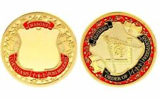 ★★ MEDAILLE PLAQUEE OR : FRANC MACONNERIE MACON ★★ m120