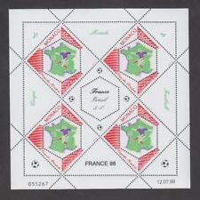 Timbres de Monaco neufs** Coupe du monde de Football 1998 - Feuille du N° 2163