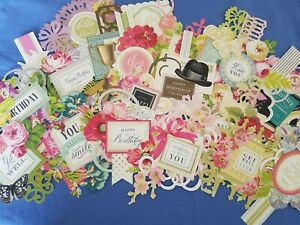 Anna Griffin Charming Collage Card Making Toppers 3 Die Cuts 24 Various Designs