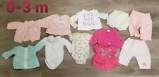 Lot Of 25 Infant Girl Clothes 0-3 3-6 Mo