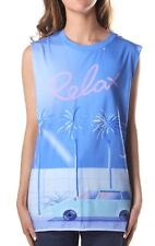 DIESEL Womens Tank Sleeveless T-Wessy-E Top Relax Print XS