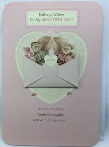 Lovely Large Country Companions Beautiful Wife Birthday Card with cute Mice
