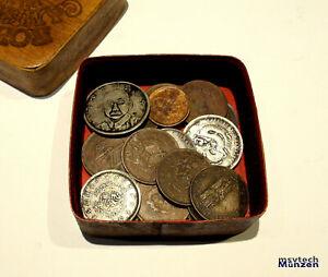 ASIEN 🇨🇳 CHINA 🇨🇳 18 Chinesische alte Münzen  Silber ?? ASIA#2