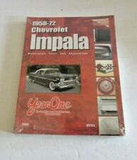 1958-72 SEALED Chevrolet Impala Year One Restoration Parts & accessories Book