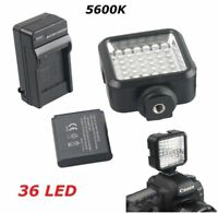 Pro 36 LED Video Light + Rechargeable Battery Kit For DV Canon Nikon Sony Camera