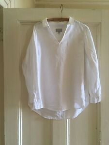 Pure Collection John Lewis White Linen Shirt UK14