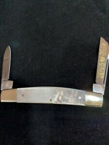 FIGHT'N ROOSTER KNIFE SOLINGEN GERMANY MOTHER OF PEARL CAPTAINS HALF CONGRESS