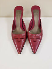 Linea Paolo Red Slide - Bow Detail - Women's - Size 8 1/2