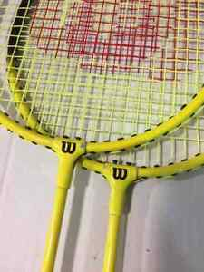 Wilson Outdoor Badminton Kit, with 1 pair of racket, pre-owned
