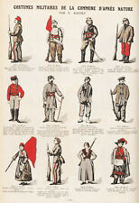 French Communards Paris Commune France Military Uniforms 7x5 Inch Print