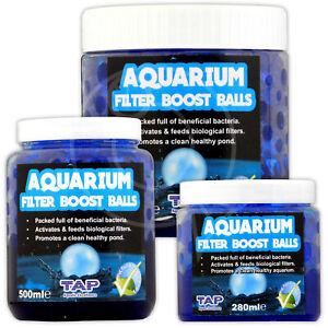 Aquarium Filter Boost Balls Bacteria Tap Quick Start Crystal Clear Water Fish