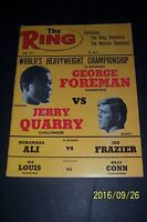 1973 The Ring GEORGE FOREMAN vs JERRY QUARRY No Label MUHAMMAD ALI vs FRAZIER