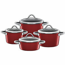 Silit Topf-Set 4-teilig Vitaliano Rosso Made in Germany induktionsgeeignet