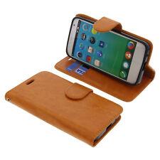 Para Alcatel Flash Fibra de Carbono Negra 2 Plus Abrazadera De Cuero PU Abatible Estuche Móviles y telefonía