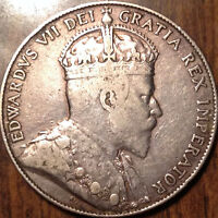 1909 CANADA SILVER FIFTY 50 CENTS IN GREAT CONDITION !
