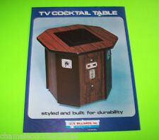 US BILLIARDS TV COCKTAIL TABLE VIDEO ARCADE GAME MACHINE FLYER BROCHURE