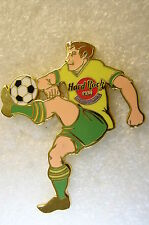 MELBOURNE,Hard Rock Cafe Pin,Soccer Player in Yellow Shirt