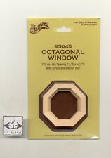 "Window - Octagonal Attic wooden miniature 1"" scale doll Houseworks 5045"