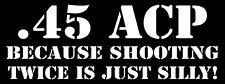.45 Gun Cal Caliber STICKER DECAL Pistol Protected Hunting Firearms gun camping