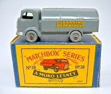 "Matchbox RW 38A Refuse Truck d'grau Metallräder in ""MOKO"" Box"