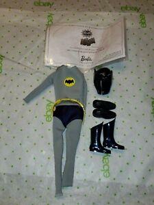Mattel Barbie Collector 2012 Adam West Batman Ken Fashion Clothes mask boots COA