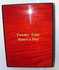 Alcoholics Anonymous AA Teak Wood Twenty-Four Hours A Day Box and Book Sobriety