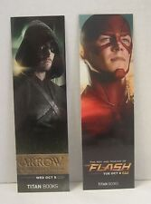SDCC 2016 Comic Con Arrow and Flash Bookmarks NEW