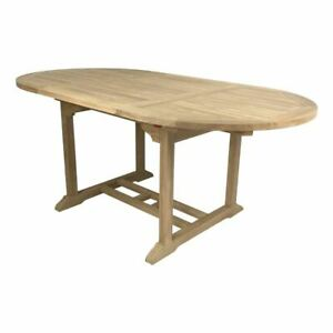 Outdoor Furniture Solid Teak Wood Oval Extension Table 1.8m