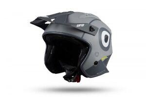 UFO Sheratan Urban Street Trials Helmet Matt Grey - All Adult Sizes
