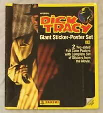 Dick Tracy Giant Sticker-Poster Set Panini 2 Two-Sided Posters W/ Complete Stick