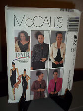 McCalls #9632 Sewing Pattern Misses Lined Dress Jacket Stole Size 8 10 12