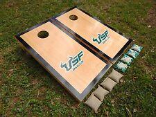 Regulation Black Border Hardcourt USF Bulls Cornhole Boards/ With Bags