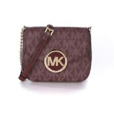 Michael Kors Fulton Small Signature Crossbody Handbag for Women's, Merlot
