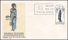 SOBRE MAT.PRIMER DIA MADRID 1968 TRAJES TÍPICOS FERNANDO POO EDIFIL Nº 1843