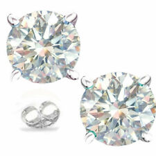 1.60 TCW VVS1 5.60MM WHITE I-J MOISSANITE Silver STUD EARRINGS