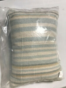 "Pottery Barn Airstream Striped Indoor/Outdoor Lumbar Pillow 14"" x 20"" Blue Multi"