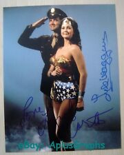 WONDER WOMAN.. Lynda Carter with Lyle Waggoner - 11x14 SIGNED