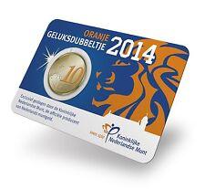 NEDERLAND - COINCARD 10 C 2014 BU - HET ORANJE GELUKSDUBBELTJE T1