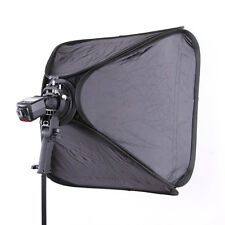 "24"" 60cm Softbox + Bowens Mount Flash Bracket Speedlite Handheld Grip Holder Kit"