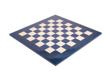 "Blue Erable Standard Traditional Chess Board - 2.25"" - GLOSS FINISH"