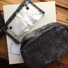FABLETICS TRAVEL COSMETICS TOILETRY BAG New With Tags. Silver/black