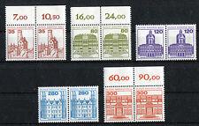 Berlin 673-677 postfrisch waagerechte Paare Burgen und Schlösser