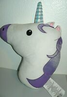 Unicorn Head Soft Pillow Stuffed Plush Toy 18""