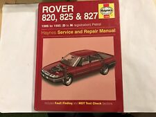 ROVER 820 825 827 HAYNES SERVICE & REPAIR MANUAL PETROL Inc' V6 1986-1995 D-N