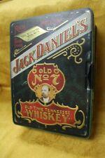 VINTAGE JACK DANIELS LARGE TIN POKER SET CHIPS/CARDS CARLISLE ENGLAND